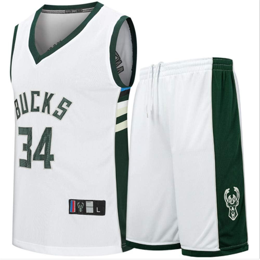 Shorts de Secado r/ápido CJM Milwaukee Bucks Player Giannis Antetokounmpo Jersey Adult Basketball Sportswear Transpirable Top
