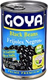 Goya Foods Black Beans Low Sodium, 15.5-Ounce (Pack of 24)