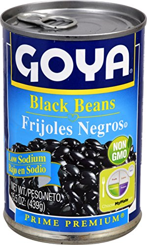Goya Foods Black Beans Low Sodium, 15.5-Ounce (Pack of 24) by Goya