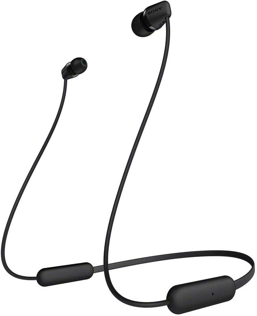 Sony WI-C200 - Auriculares in ear inalámbricos más ligeros y con hasta 15 h de autonomía, negro