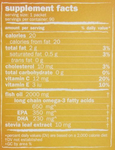 Coromega Omega-3 Supplement, Orange Flavor, Squeeze Packets, 180 Squeeze Packets