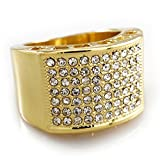 14K Gold Plated Micropave CZ AAA Crystal Iced Out Ring