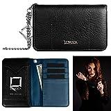 Black & Marine Kymira Women's Wallet Case for BlackBerry Z30 / Z10 / Q10