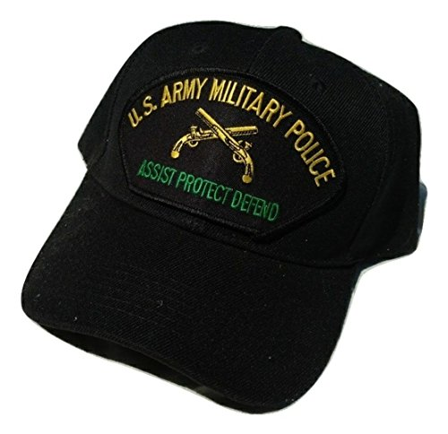 Police Low Profile Cap (US Army Military Police MP Crossed Pistols Low Profile Adjustable Ball Cap)