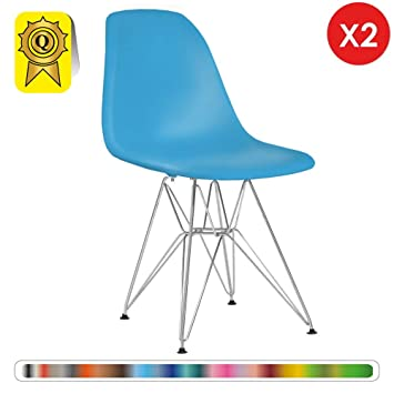 Chaise 2 X Bleu Turquoise Decopresto Scandinave Design Lot Retro TPkiZOXwu