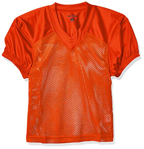 CHAMPRO Youth Stretch Polyester Practice Football Jersey, Orange, Medium ()