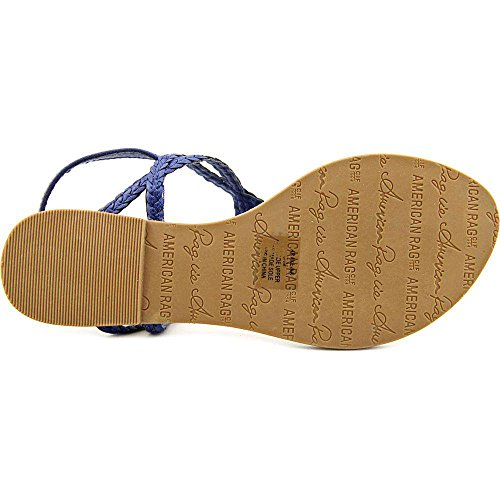 Krissy Summer Womens T Casual Toe Sandali American strap Split Blue Rag g4WPnOxfqH