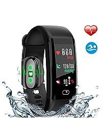 Fitness Tracker, HDTODAFN IP68 Waterproof Smartwatch with Heartrate & Blood Pressure Activity Tracker