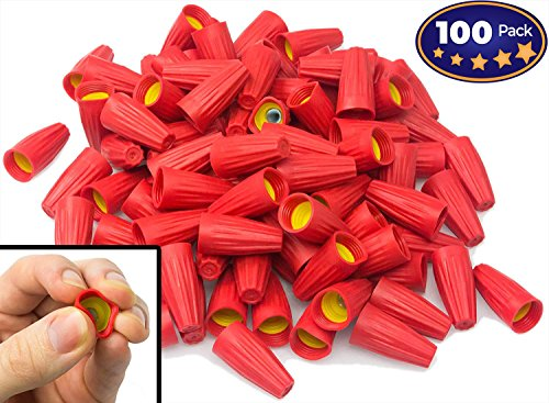 Nova Supplys Premium Ergonomic Wire Nuts 100 Pack. Cushioned Electrical Connectors Are Easier On Your Hands, Faster to Install. Caps Fit Wide Range of Wires: #8 - #18 Gauge, 600v, UL-Certified. - Twist Wire Connectors