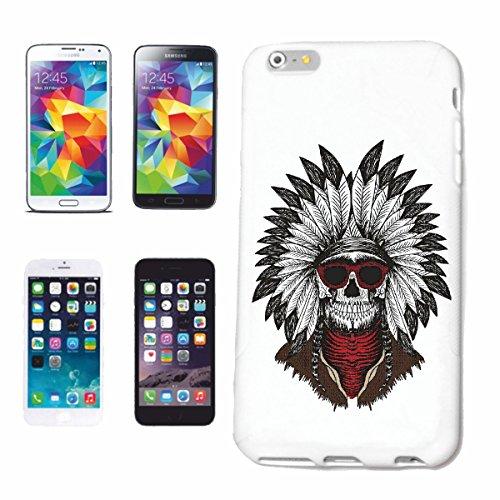 """cas de téléphone iPhone 7 """"INDIAN INDIAN Red Chief WESTERN INDIENS"""" Hard Case Cover Téléphone Covers Smart Cover pour Apple iPhone en blanc"""