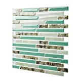 """Cocotik Self Adhesive 3D Wall Tile Peel and Stick Backsplash for Kitchen, 10.5""""x10"""", Pack of 4"""