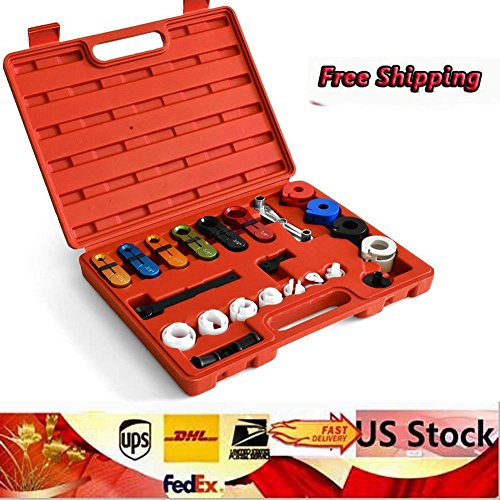 Master Disconnect Set, 22PCS Fuel Line Disconnect Tools Fuel Air Conditioning Transmission Line Disconnect Tool Set A/C Case, Fuel and Transmission Line Disconnects for Ford and GM