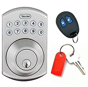 Electronic Door Lock With Remote Deadbolt Plus Backlit