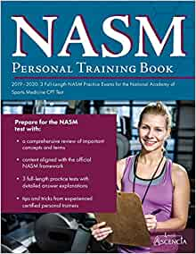 NASM Personal Training Book 2019-2020: 3 Full-Length NASM