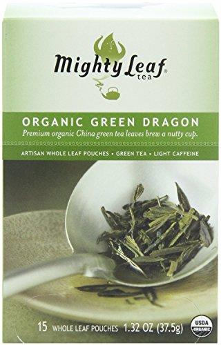 Mighty Leaf Tea Organic Green Dragon Tea, 15-Count Whole Leaf Pouches