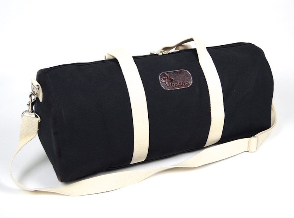 Boldric Canvas Weekender Duffle Bag - Black