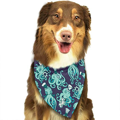 OURFASHION Ditsy Steampunk Octopuses Bandana Triangle Bibs Scarfs Accessories for Pet Cats and Puppies -