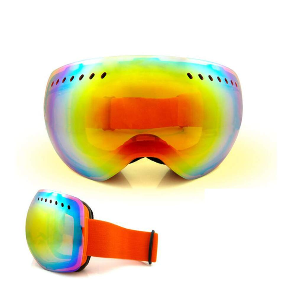 He-yanjing Anti-Fog Jet Snow Skiing Skis Goggles ,Sports Smart Glasses ,Single and Double Board ski Glasses for Men and Women Outdoor Windshield (Color : Orange) by He-yanjing