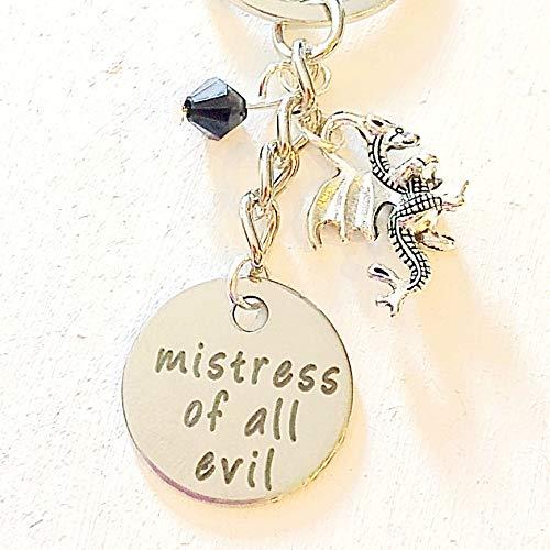 Mistress of all Evil Maleficent-Inspired Sleeping Beauty Keychain Gift for the Beautiful Villain Halloween Decor]()