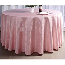 New Round Polyester Jacquard Tablecloth Pink Tablecloth , party 160cm*160cm