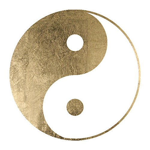 Gold Yin Yang Temporary Tattoos (3-Pack)   Skin Safe   MADE IN THE USA  Removable ()