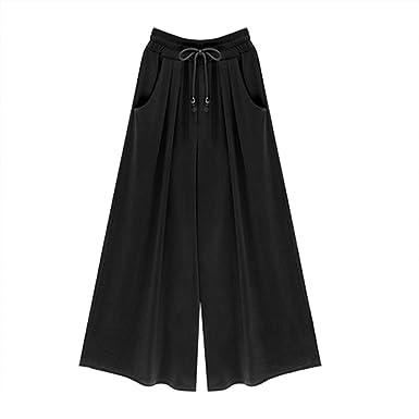 a028cfee76af4 Women Palazzo Pants Plain Wide Leg Flared Pants Plus Size Harem Trousers  Yoga Gym Sport Lounge Leggings 5 Colors  Amazon.co.uk  Clothing