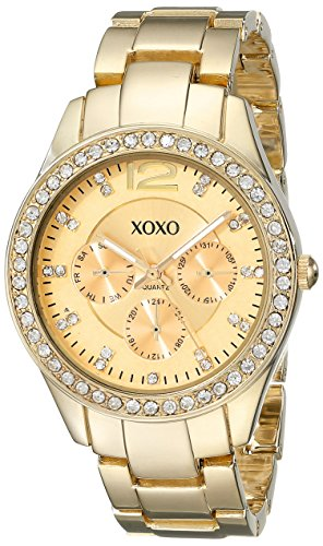 XOXO Women's XO5475 Rhinestone-Accented Gold-Tone Bracelet - Rolex Watches Fake Men