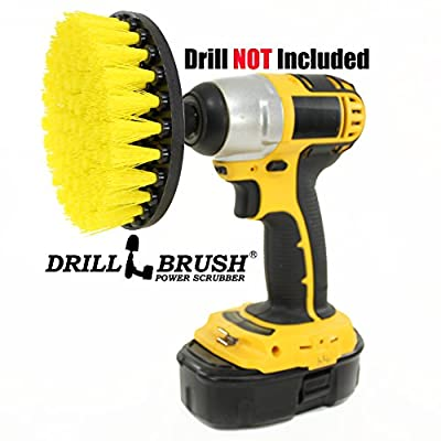 5 Inch Diameter Drill Powered Scrub Brush With Quarter Inch Quick Change Shaft