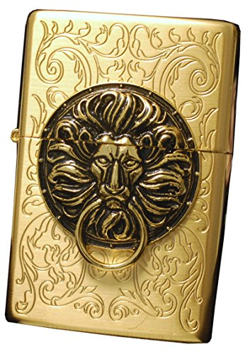 Zippo Lighter Genuine Tiger Lion Design the Gate Gd Emblem