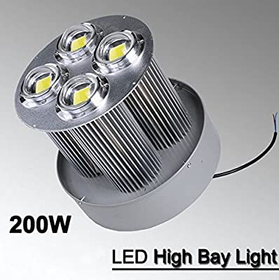 Sunnine 200W LED High Bay Light Bright White Lamp Lighting Fixture Factory Industry Great Warehouse Garage Shop Mall LED Lights