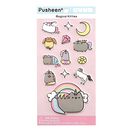 (Enesco 4060831 Pusheen and Stormy Magical Kitties Sticker Sheet, Multicolor)