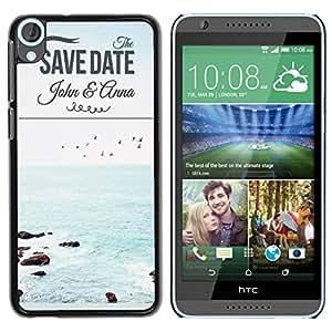 Dragon Case - FOR HTC Desire 820 - save date - Caja protectora de pl??stico duro de la cubierta Dise?¡Ào Slim Fit
