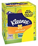 Kimberly-Clark 35551 Kleenex Anti-Viral Facial Tissue with 3 Ply, White (27 Boxes of 68 Sheets)