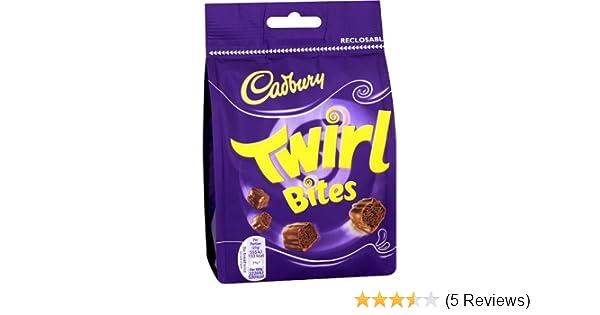 UK Cadbury Twirl Bites Bag of 109gr / 3.84 Oz