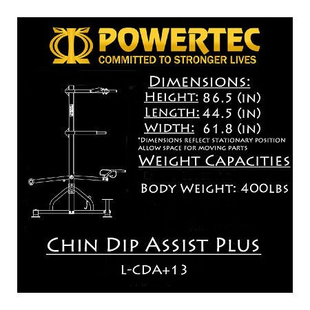 Powertec Fitness Levergym Chin/Dip Assist Plus, Black by Powertec Fitness (Image #2)