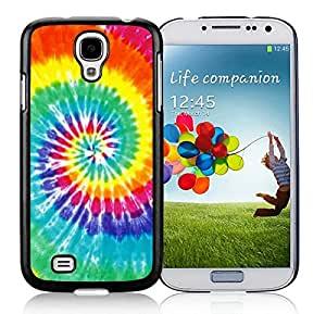 Colorful Samsung Galaxy S4 Case Elegant Tie Dye Black Cell Phone Hard Cover