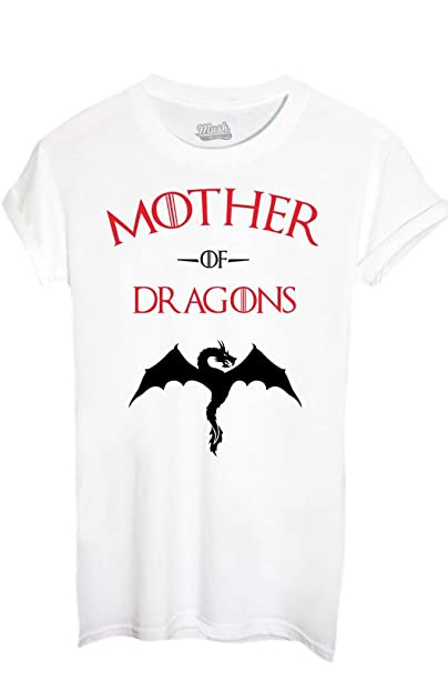 T-SHIRT MOTHER OF DRAGONS GAME OF THRONES-FILM by MUSH Dress Your Style - Donna-M-BIANCA