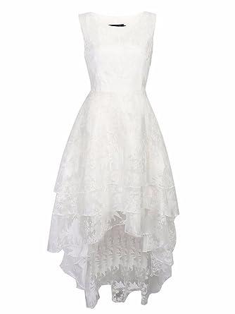 BIUBIU Damen Rundhals Cocktailkleid Spitze Ballkleid Kleid ...