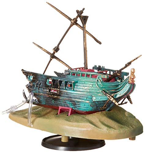 Penn Plax Aerating Action Ornament, Rocking Shipwreck