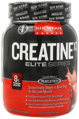 Six Star Pro Nutrition Elite Series Creatine X3 2.52lb Fruit Punch US (Packaging may vary)