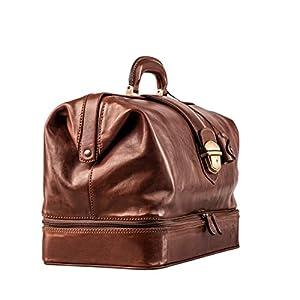 Maxwell Scott Full Grain Leather Large Doctor's Bag – DonniniL Tan