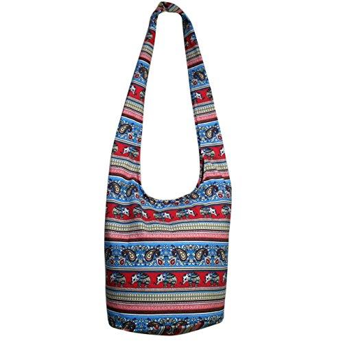 Bags BAgs Elephant 4 Cavas CrossBody Pattern 10 Tonka Cotton over Hippie Bags Hobo Shoulder qwUxfntv