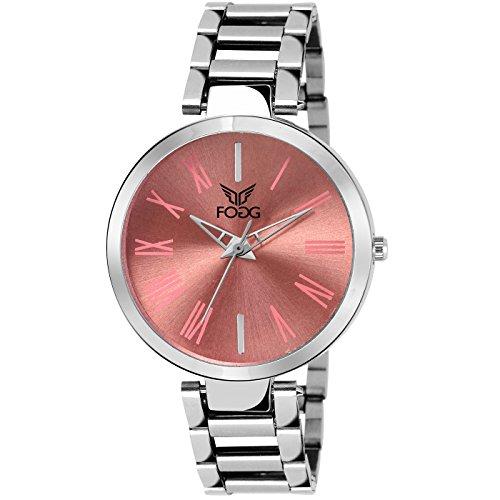 Fogg Analog Pink Dial Women's Watch 4049-PK