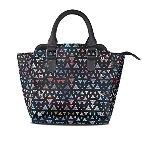 - Women's Handbags Abstract Nebula Geometric Triangle Tote PU Leather
