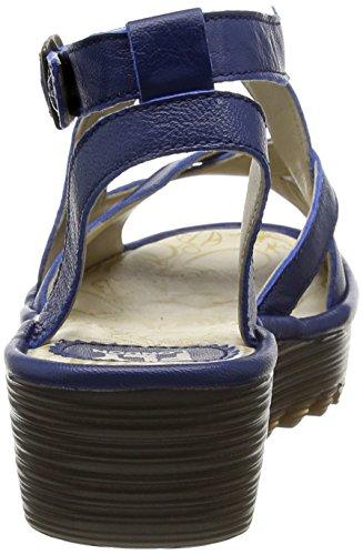 Fly London P500728002, Sandalias de Cuñas Mujer Azul (Blue 002)