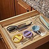 """STORi Clear Plastic Drawer Organizers 12"""" x 6"""" x 2"""" l Set of 3"""