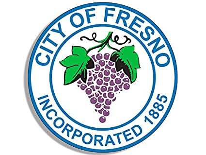 Round city of fresno seal sticker california ca logo