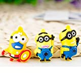 Pack of Six Pieces Minion Toys 3-4 cms Mixed Designs Good for Christmas Tree Decoration, Birthday Party Return Gift for Kids, Cute Minions.