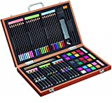 Gallery Studio - 82 Piece Deluxe Art Supplies Set in Wooden Case - Quality Mediums Guaranteed