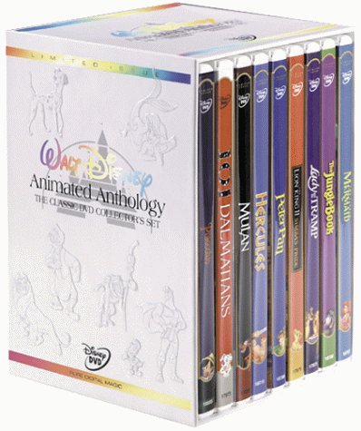Walt Disney Animated Anthology - The Classic DVD Collector's Set (Pinocchio/101 Dalmatians/Mulan/Hercules/Peter Pan/The Lion King 2: Simba's Pride/Lady & The Tramp/The Jungle Book/The Little Mermaid) (Princess Movie Collection)